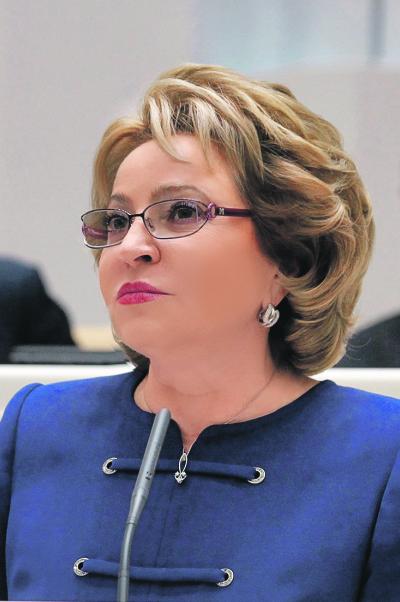 Валентина Матвиенко выступит навесенней сессии Конгресса местных и региональных властей Совета Европы