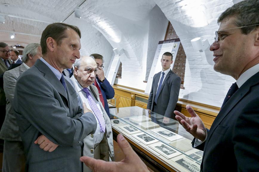Сергей Нарышкин открыл выставку, посвящённую основателю Российского исторического общества