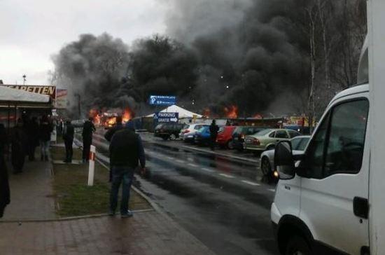 Из-за взрыва вмагазине пиротехники награнице Польши и ФРГ пострадали 8 человек