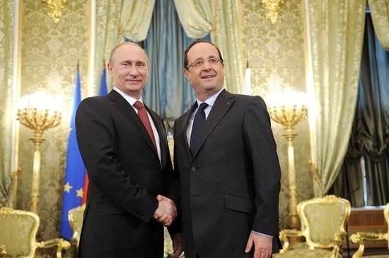 Путин и Олланд обсудят в Париже ситуацию на Украине и в Сирии