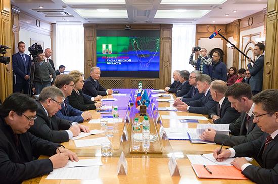 Валентина Матвиенко считает, что сахалинские порты должны получить статус «свободных»