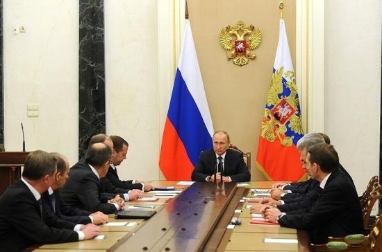 Владимир Путин обсудил с Совбезом подготовку к посланию Федеральному собранию