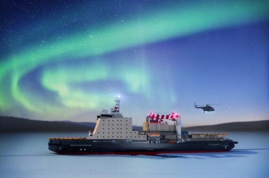 Ледокол «Виктор Черномырдин» спущен на воду на Балтийском заводе