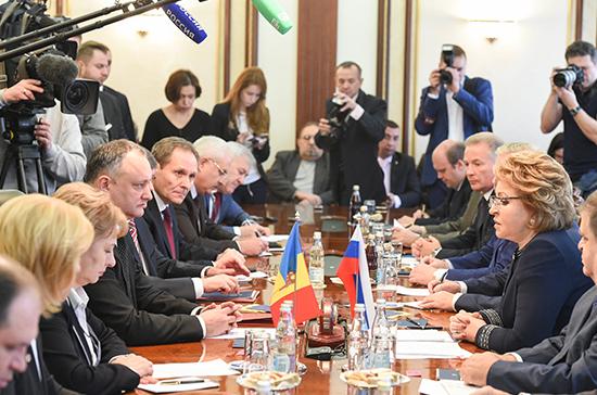 Валентина Матвиенко встретилась с президентом Молдавии Игорем Додоном