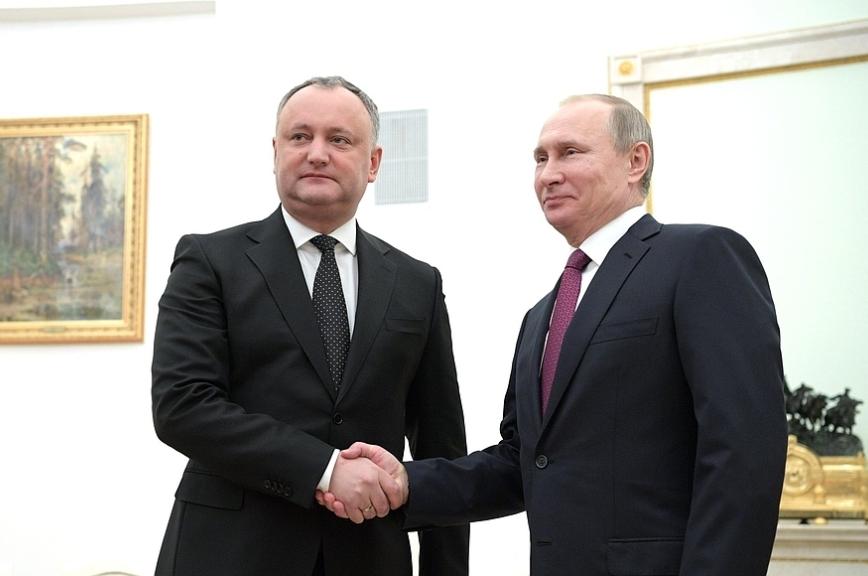 Путин рассчитывает на развитие отношений РФ с Молдавией по всем направлениям