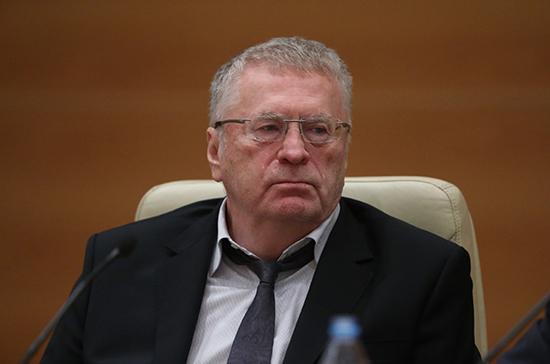 Жириновский отправил телеграмму губернатору Санкт-Петербурга