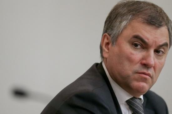 Володин: улучшение законов всфере социальных НКО— приоритет для Думы