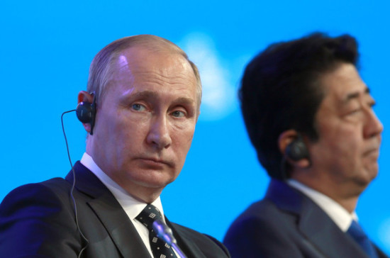 Абэ хочет вместе сРоссией «поставить точку» впроблемах, оставшихся после войны