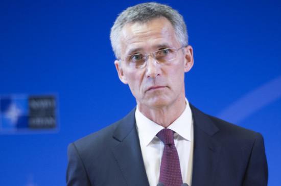 Столтенберг: НАТО настаивает на потребности разговора сРоссией