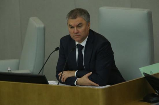 Вячеслав Володин иИван Белозерцев оценили ход возведения перинатального центра