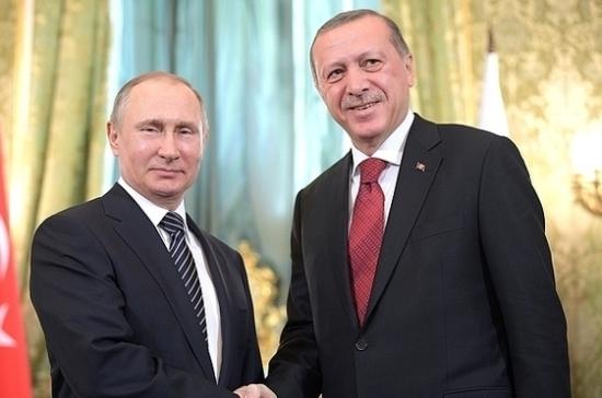 Путин обсудил сЭрдоганом возможность обслуживания карт «Мир» вТурции