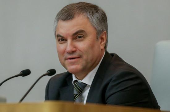 Володин поторопил депутатов сосдачей деклараций одоходах