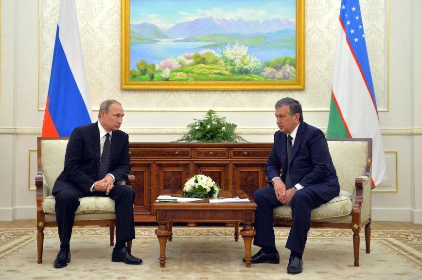 Стала известна тема встречи В. Путина  ипрезидента Узбекистана