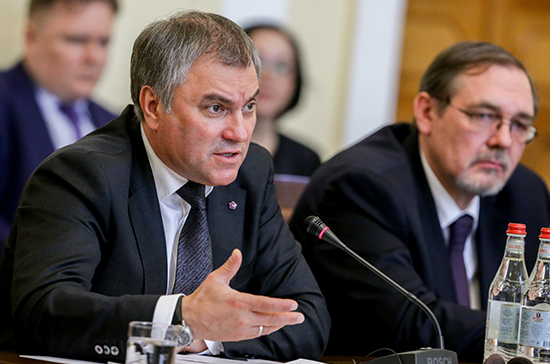 Вячеслав Володин предложил министру энергетики встретиться со всеми фракциями Госдумы