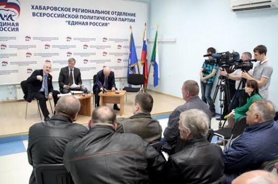 Хабаровские депутаты начали диалог с дальнобойщиками