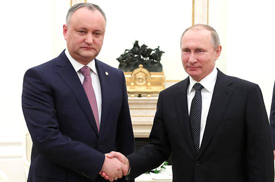Путин: Россия и Молдавия в перспективе могут стать стратегическими партнёрами