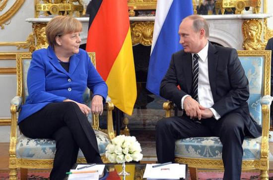 Меркель обсудит сПутиным ситуацию вУкраинском государстве ивСирии