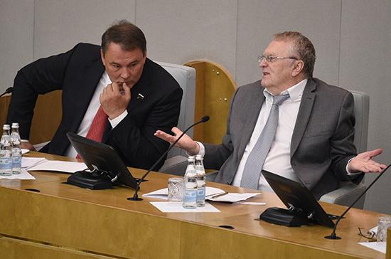 Жириновский предложил сделать в государственной думе комитет поделам мужчин