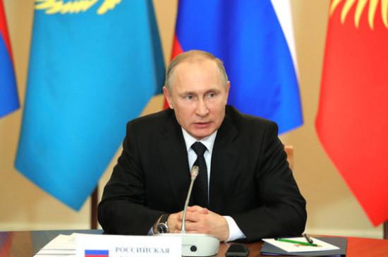 Путин поздравил президента Таджикистана сДнем государственного единства
