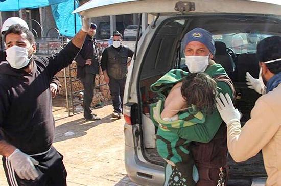 Российские военнослужащие начали эвакуацию раненых из пригородов Дамаска