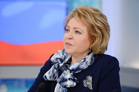 Матвиенко невидит необходимости вотмене муниципального фильтра навыборах