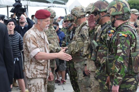 Военные НАТО пройдут маршем по центру Киева