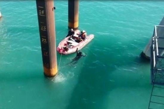Водолазы обнаружили тело без вести пропавшего при падении автобуса в море на Кубани