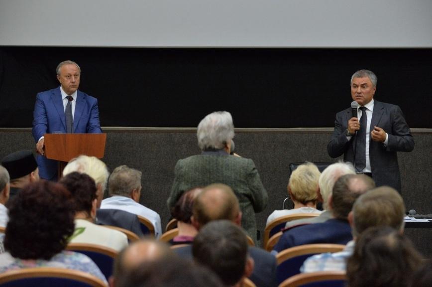 Володин и Радаев обсудили волнующие саратовцев вопросы
