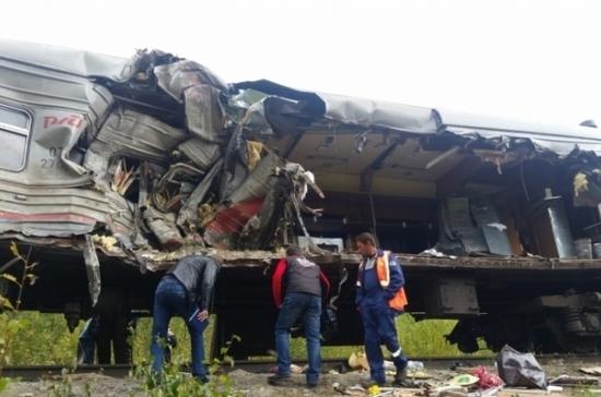 Власти ХМАО озвучили версии столкновения грузовика с поездом под Нижневартовском