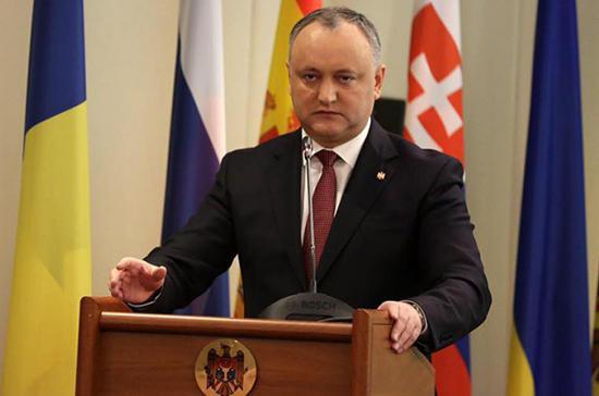 Додон пообещал заблокировать внесение в конституцию пункта о вступлении в Евросоюз
