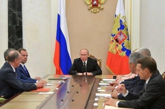 Путин провел совещание сСоветом безопасности из-за ситуации вокург КНДР