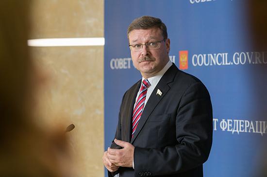 Косачев отметил, что в выступлении Трампа в ООН звучали только лозунги и ярлыки