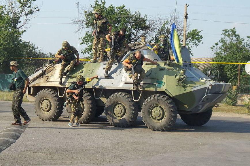 Что осталось отвзорванного монумента боевикам вЛуганске