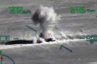 Минобороны показало видео ударов по окружившим военных РФ боевикам