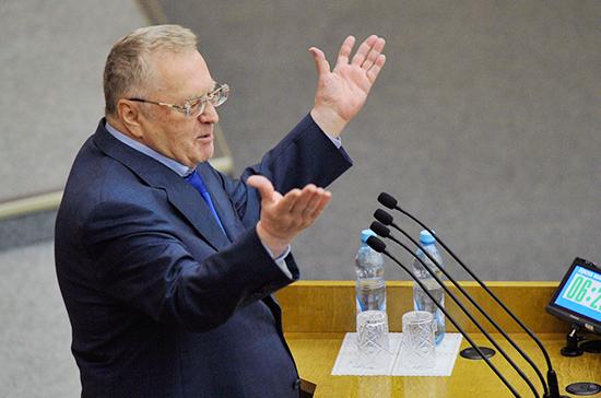 Жириновский предложил облагать штрафом депутатов заотказ отпрививок