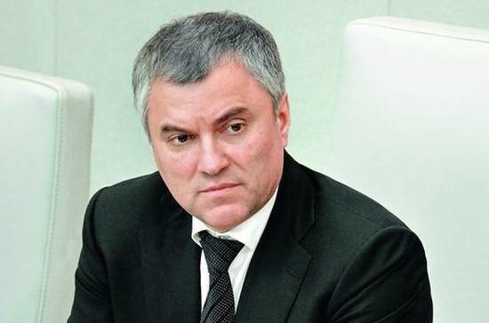 Вячеслав Володин проведёт заседание Совета по цифровой экономике