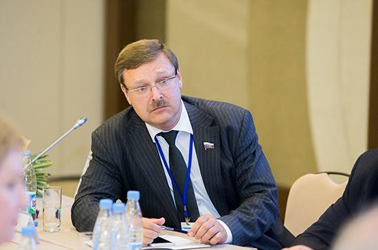 Косачев: переговоры Путина и Эрдогана не направлены против стратегических партнёров России