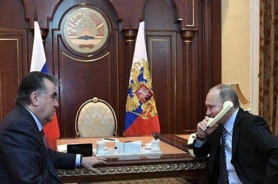 Путин поздравил президента Таджикистана с 65-летием