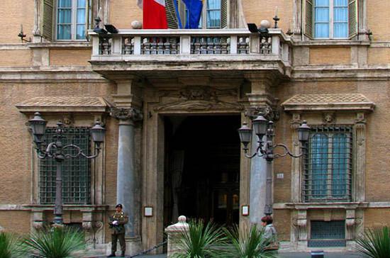 В Италии у здания палаты депутатов парламента проходят протесты