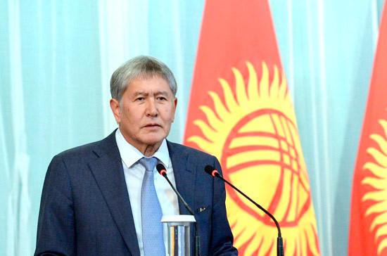 Президент Киргизии обратился к избирателям