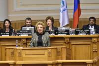 Матвиенко призвала женщин-парламентариев использовать своё влияние для решения мировых проблем