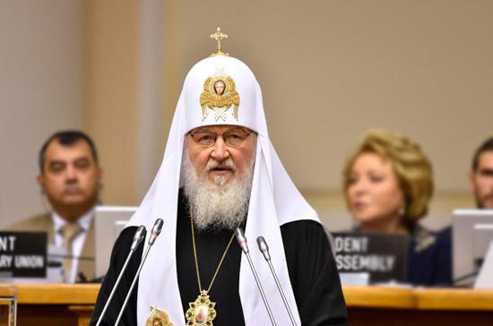 Патриарх Кирилл: на Украине продолжаются попытки дискриминировать православную церковь