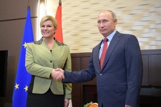 Путин: Россия прорабатывает возможность поставок в Хорватию судов на подводных крыльях