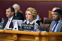 Валентина Матвиенко назвала «революцией»  избрание на пост председателя МПС женщины-парламентария