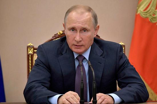 Владимир Путин проведёт совещание с членами Правительства