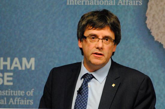 Пучдемон выступил с первым заявлением после отъезда из Каталонии