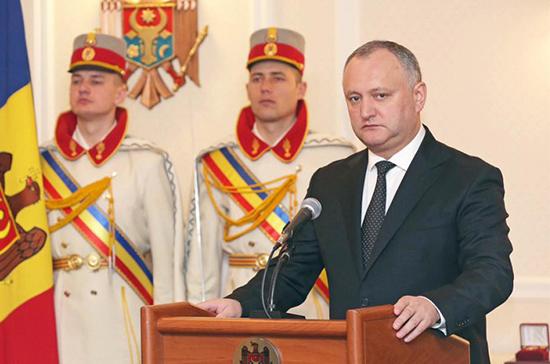Додон направил Путину поздравление сДнем народного единства