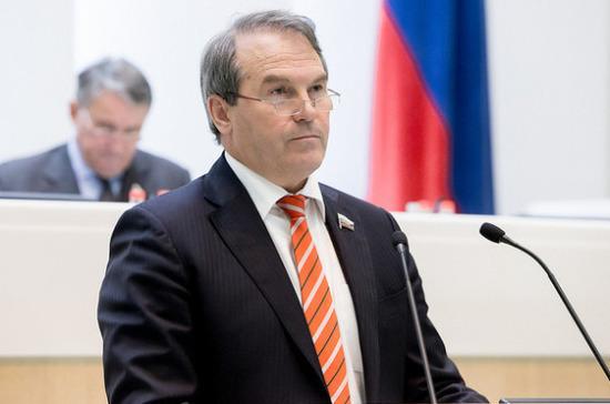 Сенатор Морозов назвал недопустимой работу государственных СМИ России на западные гранты