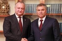 Додон анонсировал заседание Межпарламентской группы дружбы Молдова — Россия до конца года