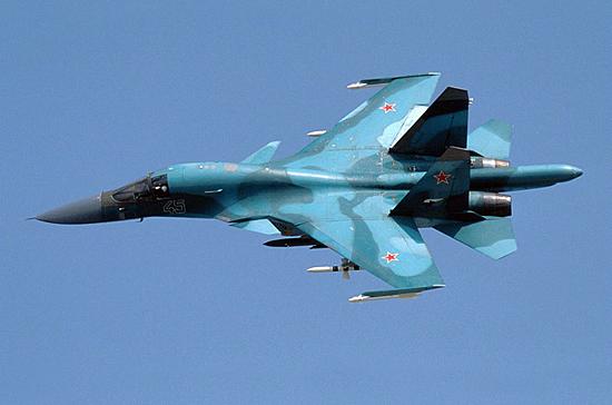 Военным передали 3-ю загод партию бомбардировщиков Су-34